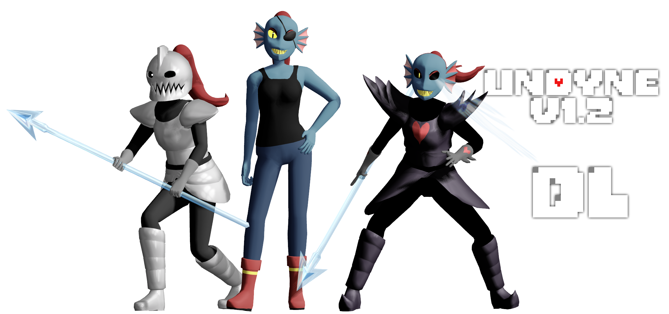 mmd undertale   undyne v1 2 by magicalpouchofmagic on