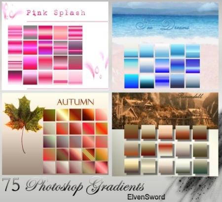 Градиенты - времена года 4 seasons (photoshop gradients+lessons)