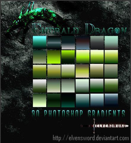 Emerald Dragon Ps Gradients