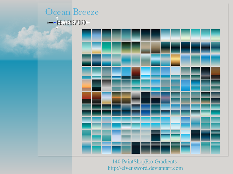 Ocean Breeze Psp Gradients