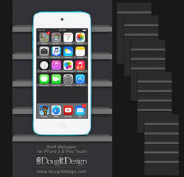 Shelf Wallpaper for iPhone iOS7 Dark Theme