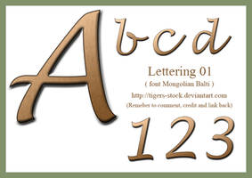 267 Lettering by Tigers-stock