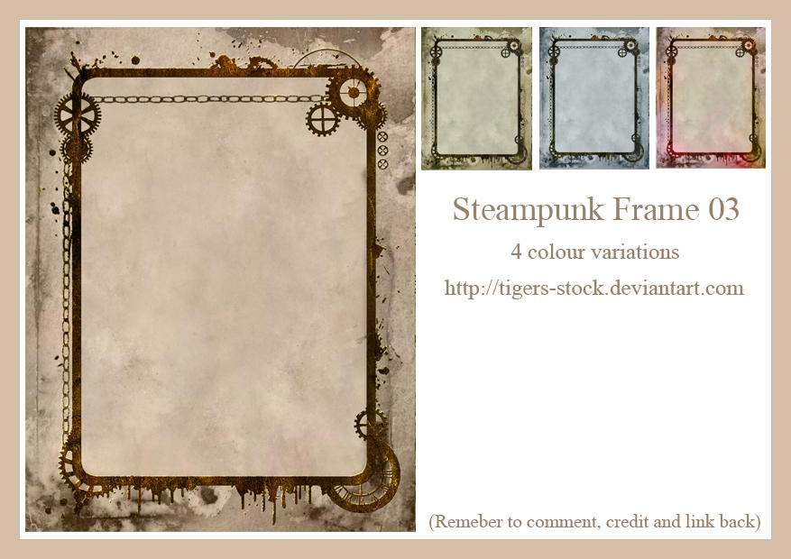 172 Steampunk Frame 03 by Tigers-stock on DeviantArt