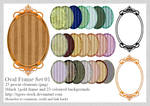 330 Oval Striped Frame