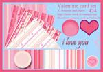 424 Valentine card set