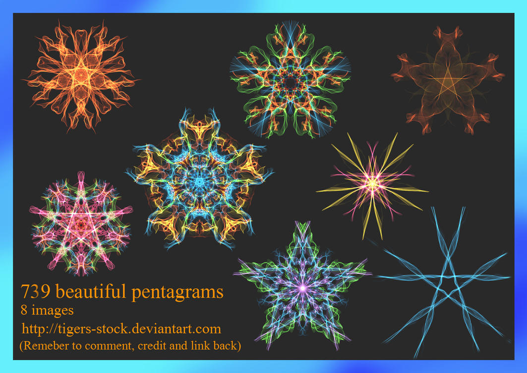 739 Beautiful Pentagrams by Tigers-stock