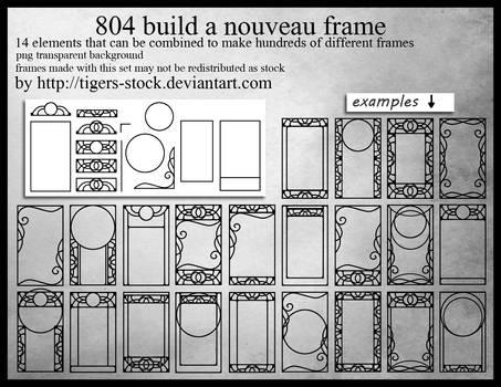 804 Build A Nouveau Frame by Tigers-stock