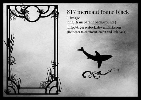 817 Mermaid Frame Black