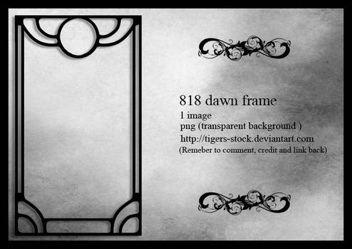 818 Dawn Frame