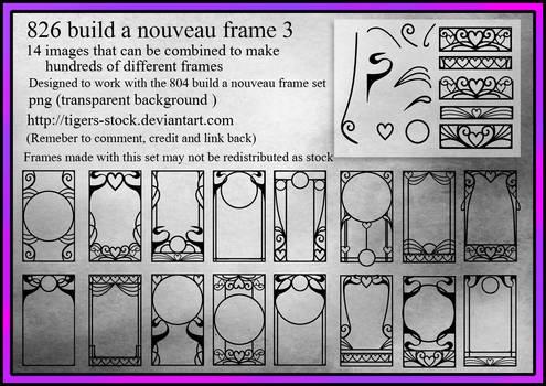 826 Build A Nouveau Frame Set3
