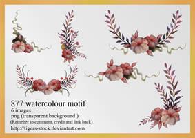 877 Watercolour Motif