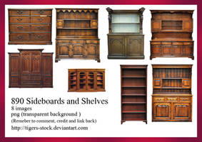 890 Sideboardes And Shelves by Tigers-stock