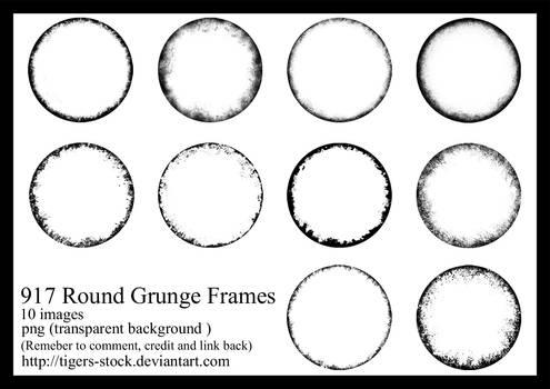 917 Round Grunge Frames