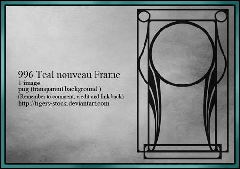 996 Teal Nouveau Frame
