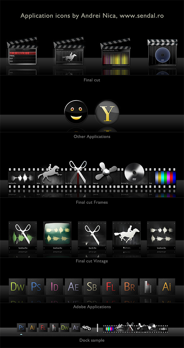 OSX Application Icons 1 - dark