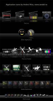 OSX Application Icons 1 - dark