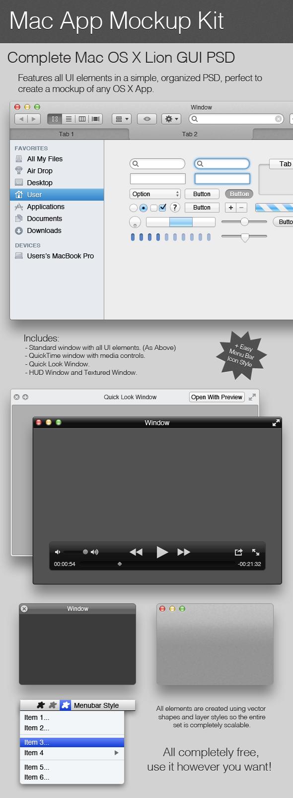 Mac App Mockup Kit