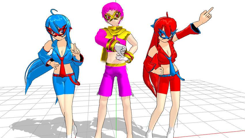 MMD+HTF Heros Download by Nanashione