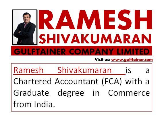 Ramesh Shivakumaran Gulftainer Company Limited by xtina88jao