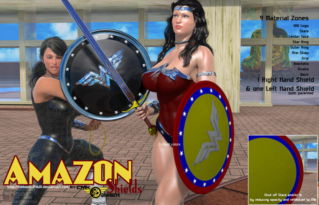 Amazon Shields (for Daz studio and Poser) by CMKook-24601