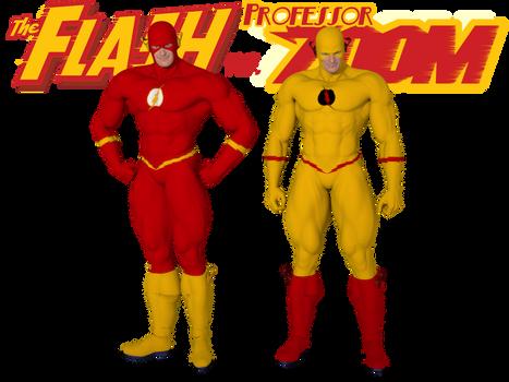 Flash and Prof Zoom Genesis Super Suit