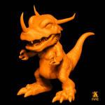 Digimon Greymon Sculpting Timelapse