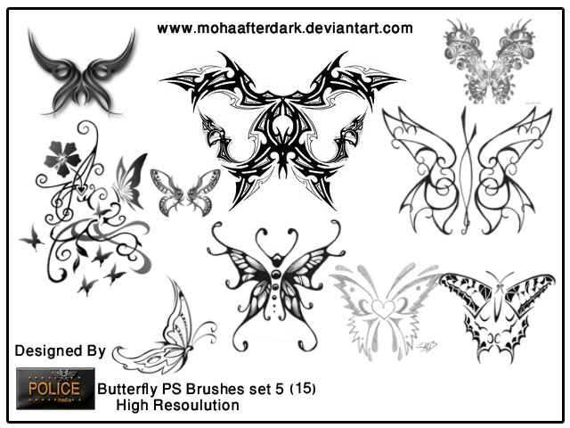 butterfly brushes set5