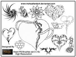 Heart brushes set 3 by mohaafterdark