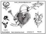 Heart brushes set 5 by mohaafterdark