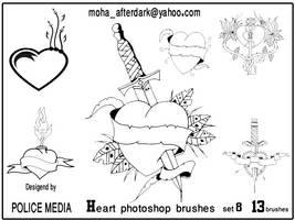 Heart brushes set8 by mohaafterdark