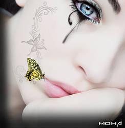 buterfly girl by mohaafterdark