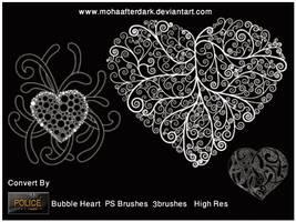 bubble heart by mohaafterdark