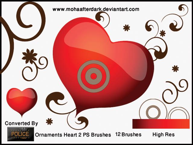 Ornaments Heart 2 by mohaafterdark