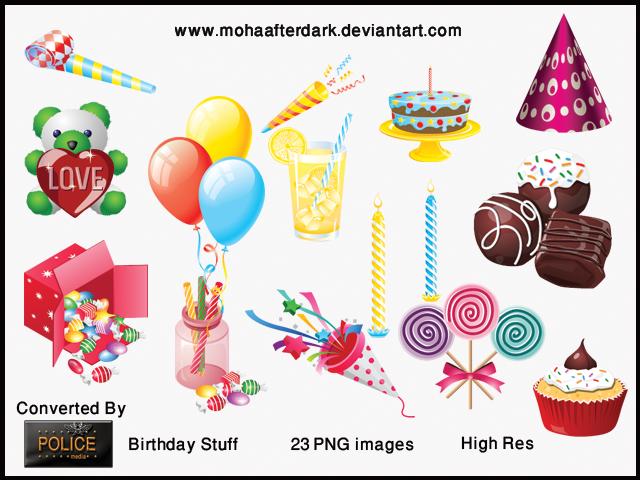 Birth Day Stuff  PNG's by mohaafterdark