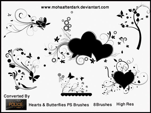 Hearts and Butterflies 1 by mohaafterdark