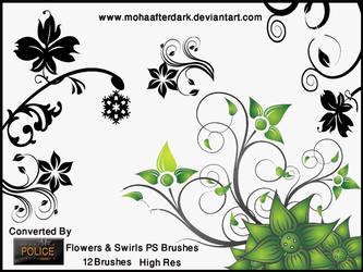 Flowers and Swirls 1 by mohaafterdark