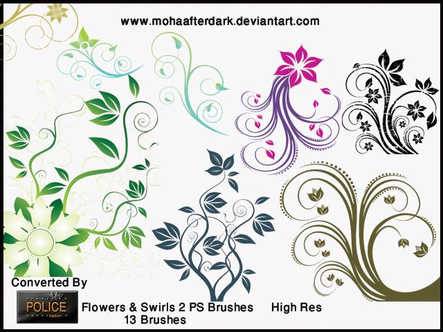 Flowers and Swirls 2 by mohaafterdark