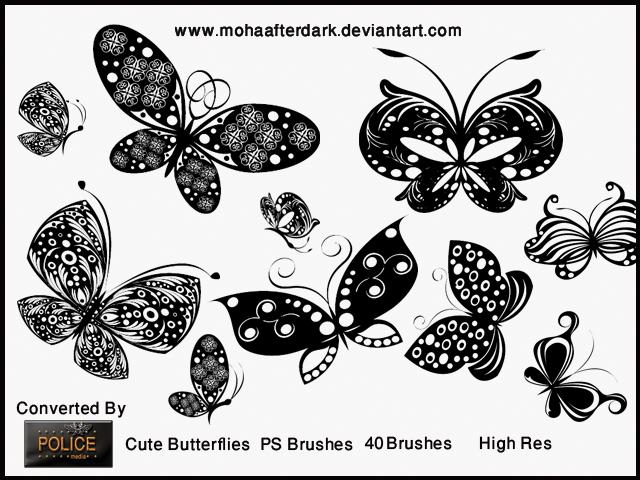 cute butterflies by mohaafterdark