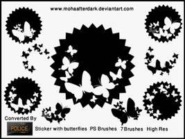 Sticker with butterflies by mohaafterdark