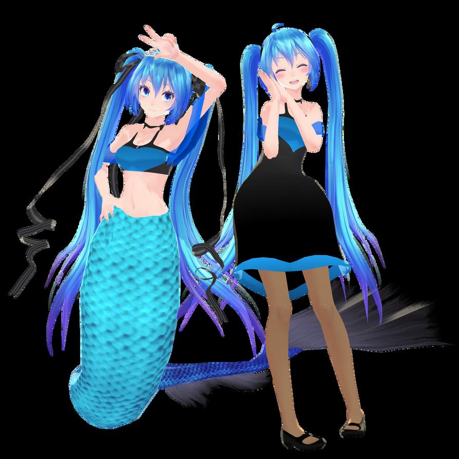 Tda Dress and Mermaid Miku .:Download:. by Palcario