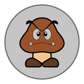 Goomba emblems by Just-Call-Me-J