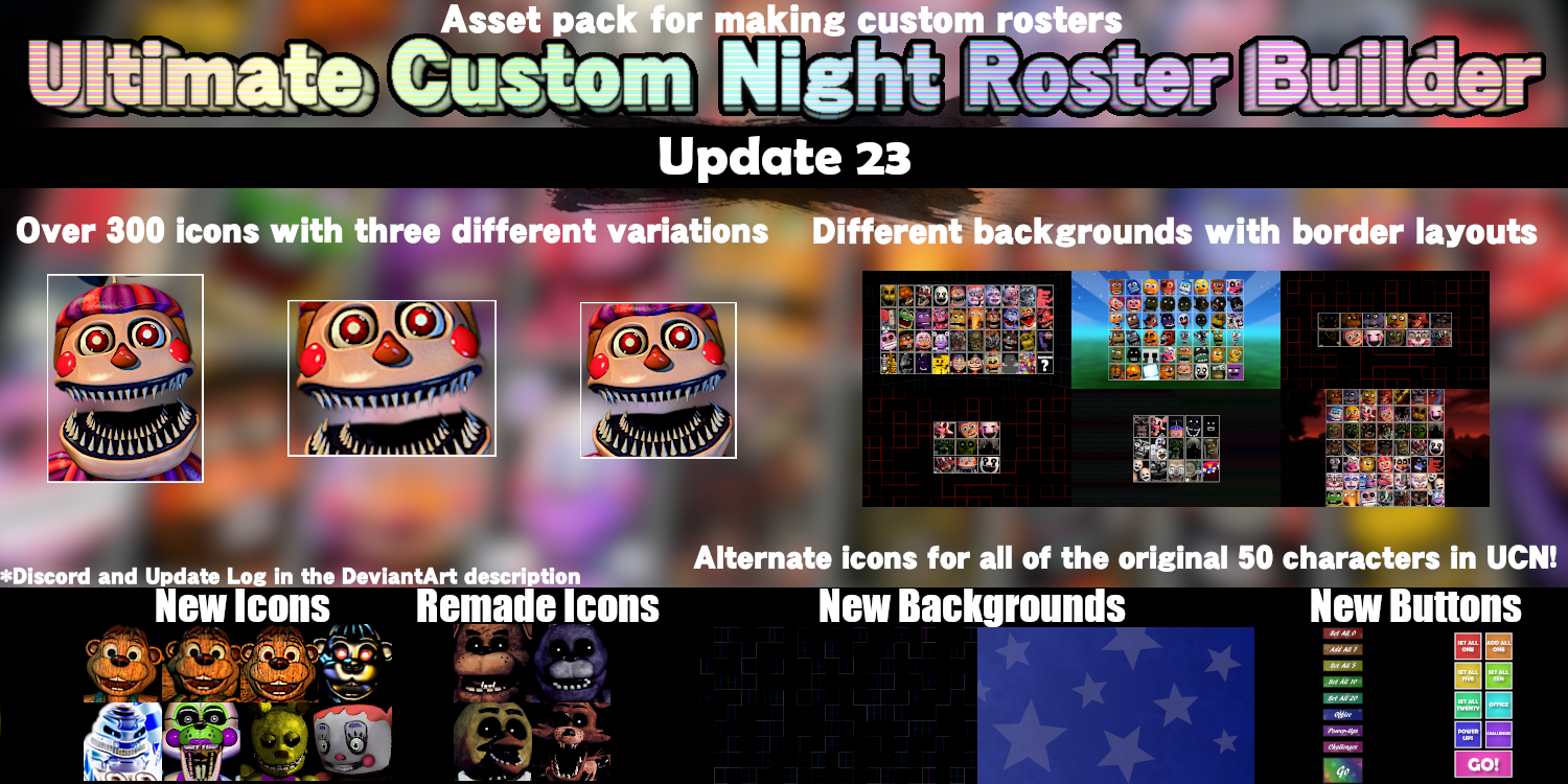 Ultimate Custom Night Roster Builder (Update 23) by