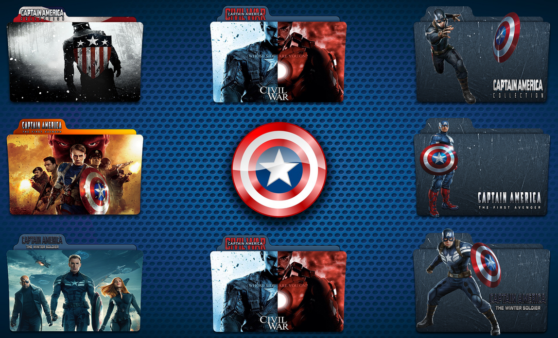 captain america folder icon pack by gterritory on deviantart