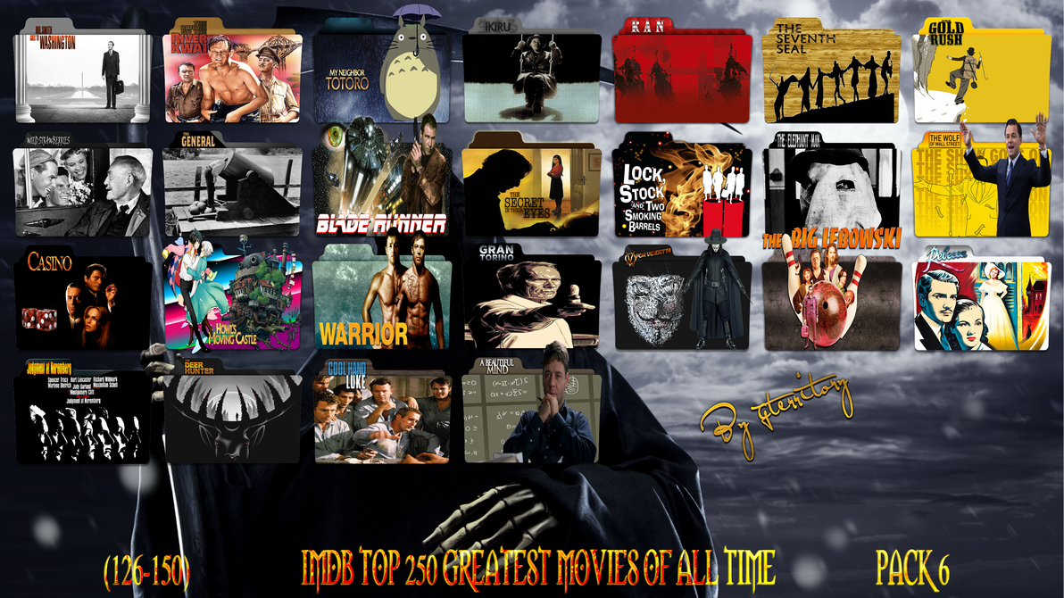 imdb top 250 greatest movies of all timepack 6 by