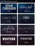 Impossiblyamelia's Font Pack #1