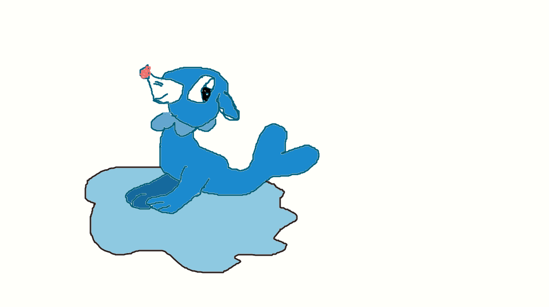Popplio in a puddle by OkamiVictory