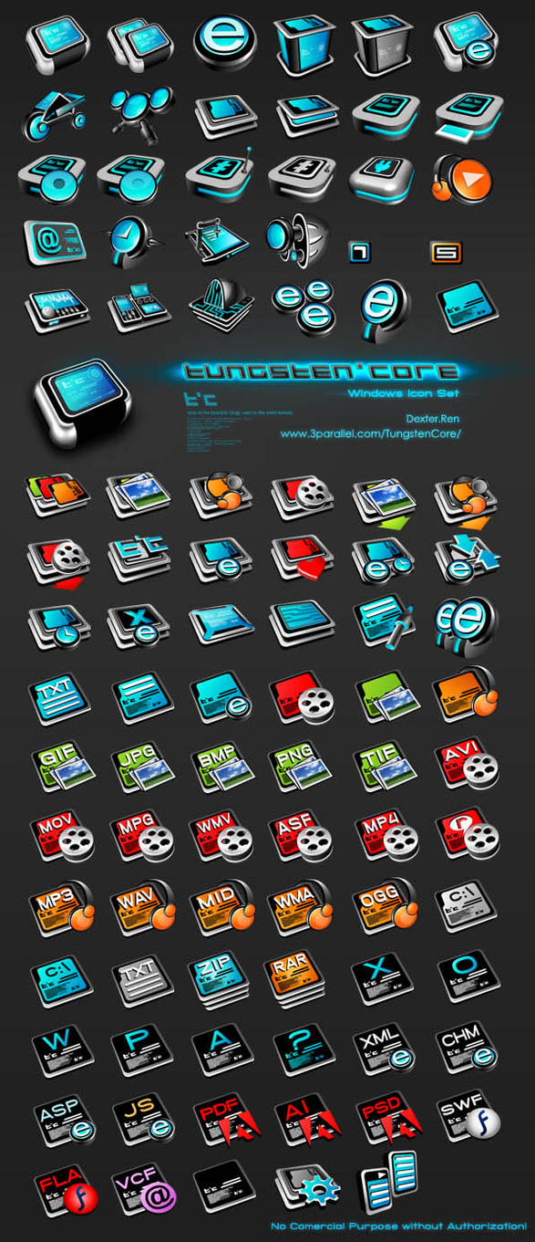 Tungsten Core Icon set by lindexter