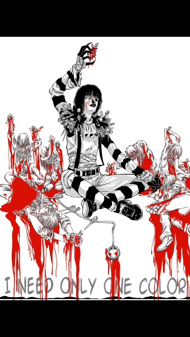 Monochrome Has Red? Yandere!Laughing Jack X Reader by
