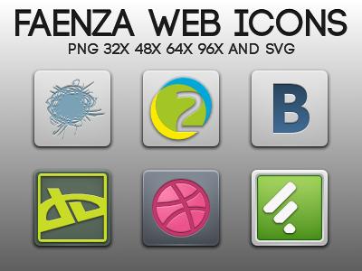 Faenza Web Icons by kit-oz