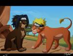 Naruto and Sasuke Lions